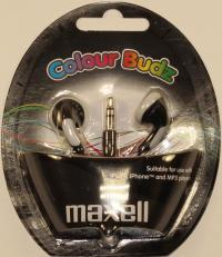 "Наушники ""Maxell"" Blue Color Budz вкладыши (8)"