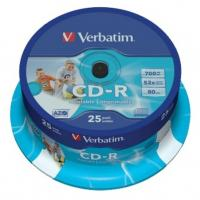 "Оптический диск CD-R ""Verbatim"" Printable 700MB 52x CB25 (25/200)"