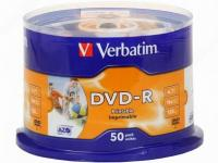 "Оптический диск DVD.-R ""Verbatim"" Printable 4,7GB 16x CB50 (50/200)"