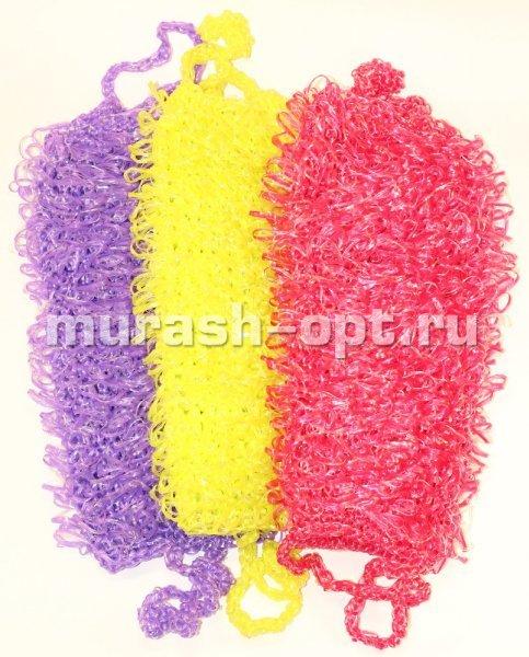Вязание мочалки для тела